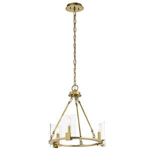 Signata Natural Brass Three-Light Mini Chandelier