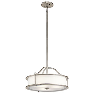 Emory Classic Pewter Four-Light Drum Pendant