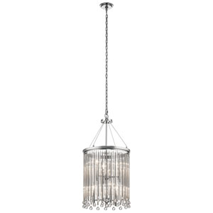 Piper Chrome 16-Inch Six-Light Chandelier