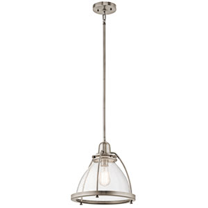 Silberne Classic Pewter 13-Inch One-Light Pendant