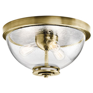 Silberne Natural Brass Three-Light Flush Mount