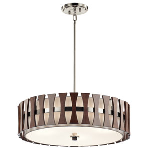 Cirus Auburn Stained Finish Four-Light Pendant