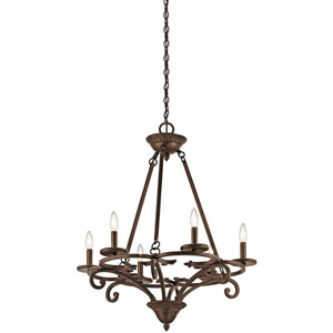 Caldella Aged Bronze Six-Light Chandelier