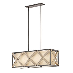 Cahoon Anvil Iron Three-Light Pendant