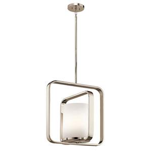 City Loft Polished Nickel 16.5-Inch One-Light Pendant