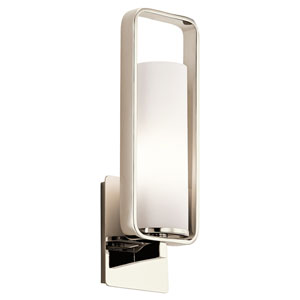 City Loft Polished Nickel One-Light Wall Sconce
