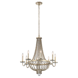 Birkdale Sterling Gold Eight-Light Chandelier