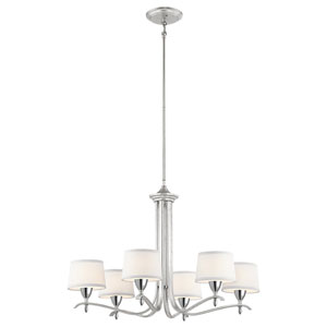 Cordova Silver Leaf Six-Light Chandelier