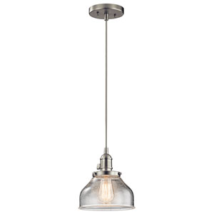 Avery Brushed Nickel One-Light Mini Pendant