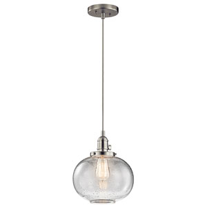 Avery Brushed Nickel One-Light Globe Pendant