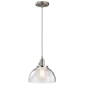 Avery Brushed Nickel One-Light Dome Pendant
