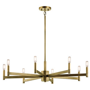 Erzo Natural Brass Eight-Light Chandelier