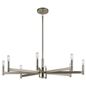 Erzo Satin Nickel Eight-Light Chandelier
