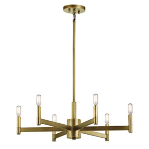 Erzo Natural Brass Six-Light Chandelier