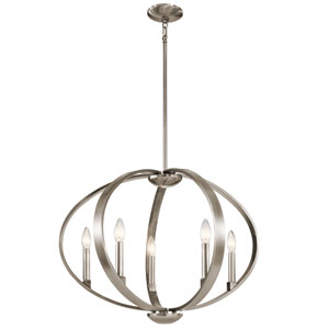Elata Classic Pewter Five-Light Pendant