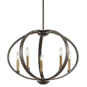 Elata Olde Bronze Five-Light Pendant