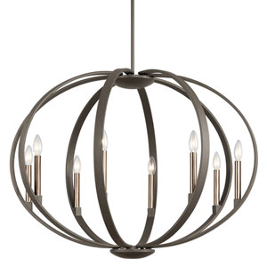 Elata Olde Bronze Eight-Light Pendant