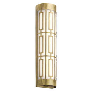Empire Natural Brass 20-Inch LED Two-Light Bath Sconce