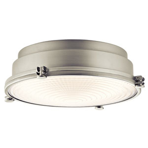 Hatteras Bay Brushed Nickel 13.5-Inch One-Light LED Flush Mount
