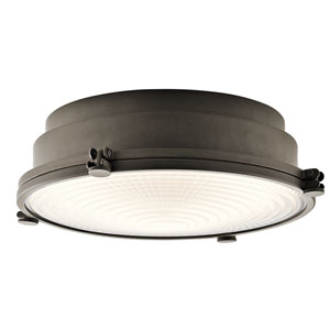 Hatteras Bay Olde Bronze 13.5-Inch One-Light LED Flush Mount