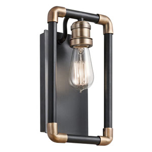 Imahn Black One-Light Wall Sconce