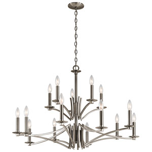Grayson Classic Pewter 15-Light Chandelier