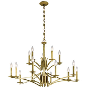 Grayson Natural Brass 15-Light Chandelier