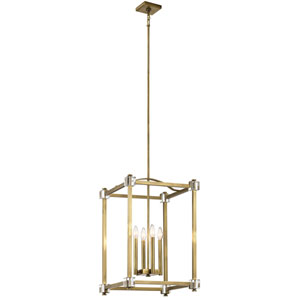 Cayden Natural Brass 17-Inch Four-Light Pendant
