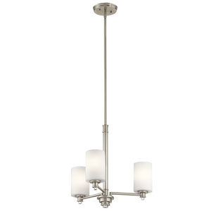 Joelson Brushed Nickel Three-Light Chandelier
