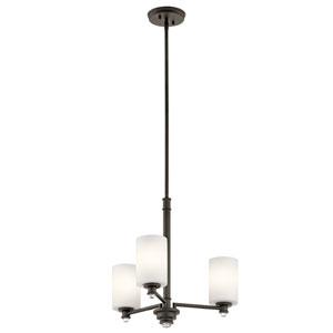 Joelson Olde Bronze LED Three-Light Chandelier