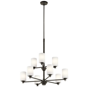 Joelson Olde Bronze Nine-Light Chandelier