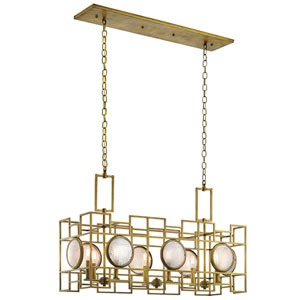 Vance Natural Brass Eight-Light Pendant