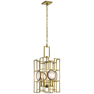 Vance Natural Brass Four-Light Pendant