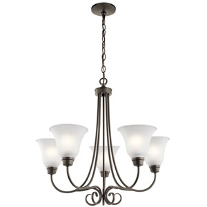 Bixler Olde Bronze Five-Light Chandelier