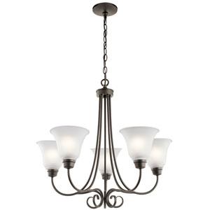 Bixler Olde Bronze LED Five-Light Chandelier