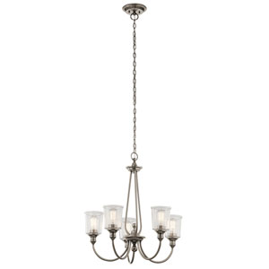 Waverly Classic Pewter 26-Inch Five-Light Chandelier