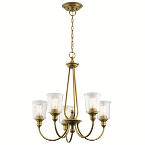 Waverly Natural Brass 26-Inch Five-Light Chandelier