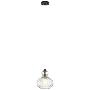 Riviera Olde Bronze 9-Inch One-Light Mini Pendant