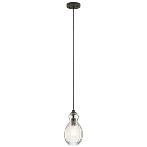 Riviera Olde Bronze 6-Inch One-Light Mini Pendant