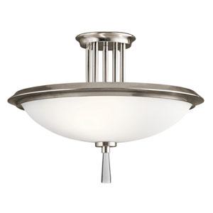 Dreyfus Classic Pewter 17-Inch Three-Light Semi-Flush