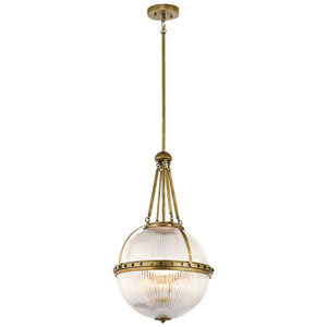Aster Natural Brass 15-Inch Three-Light Pendant