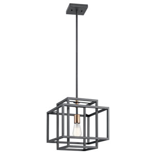 Taubert Black 12-Inch One-Light Pendant