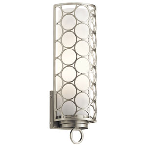 Melrose Brushed Nickel 5-Inch One-Light Wall Sconce
