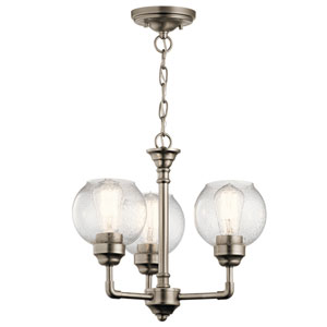 Niles Antique Pewter 16-Inch Three-Light Chandelier