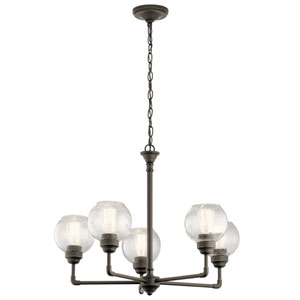 Niles Olde Bronze 26-Inch Five-Light Chandelier