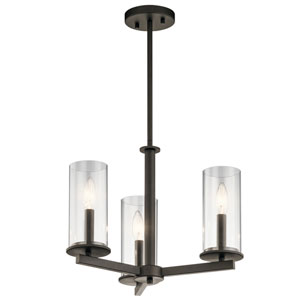 Crosby Olde Bronze 18-Inch Three-Light Chandelier