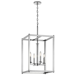 Crosby Chrome 16-Inch Four-Light Foyer Pendant