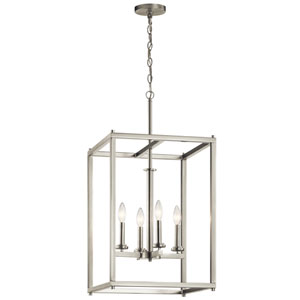 Crosby Brushed Nickel 16-Inch Four-Light Foyer Pendant