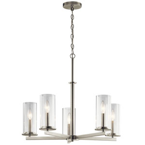 Crosby Brushed Nickel 26-Inch Five-Light Chandelier