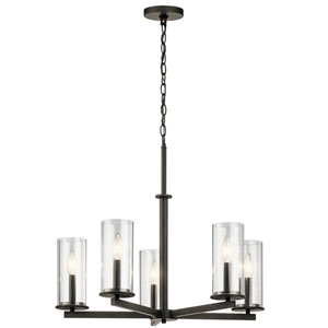 Crosby Olde Bronze 26-Inch Five-Light Chandelier